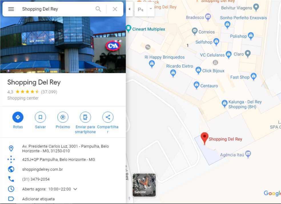 Google Meu Negócio para Clínica de Estética